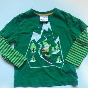 Hanna Andersson Christmas Holiday Elf Shirt Sz4